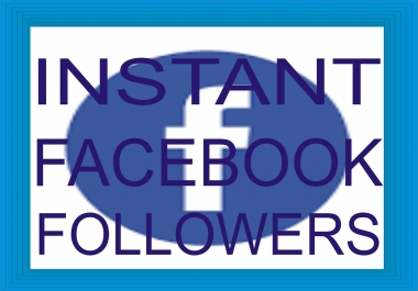 Give you 1000 Facebook Profile Followers