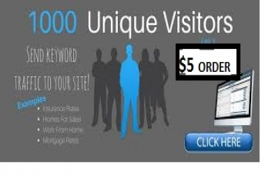 provide to your URL 1000 unique clicks