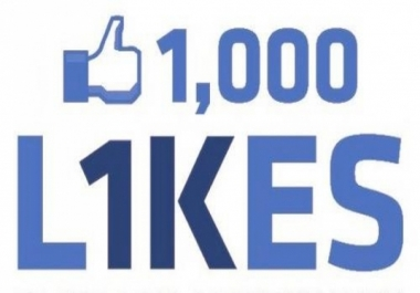 provide 1000+ Facebook likes to improve your social signals on facebook