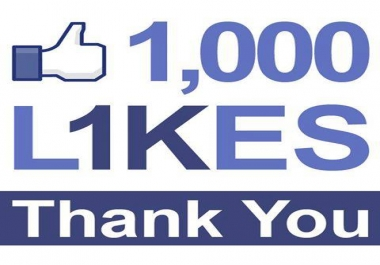 Provide 1,000 Real and Active Facebook Likes