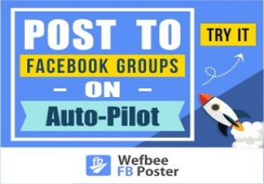 Give you a fb groups poster account
