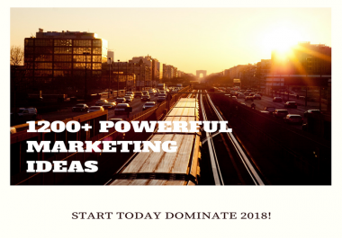 give you 1200 Powerful Marketing Ideas to grow you business