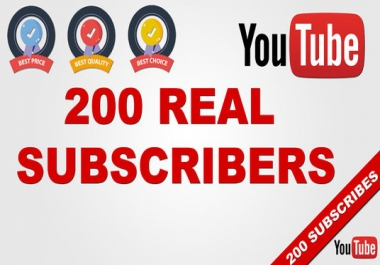 Give 200 YouTube Subscribers to your Channel Never Drop