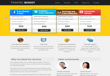 provide you with a Social Media (likes) Reselling Website