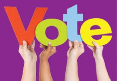 give 400 genuine votes to your entry to any website contest poll