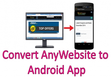Convert your Website to android Mobile App