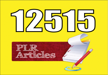 Give You Over 12000 Health PLR Articles