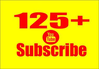 Provide 125+ YouTube Subscribers Permanent Non Drop