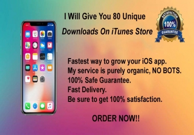 provide 80 downloads for your IOS free apps on itunes store