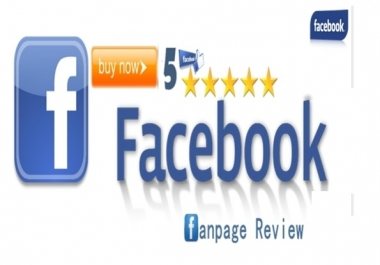 give you 80 Facebook five star rating and review on your fan page