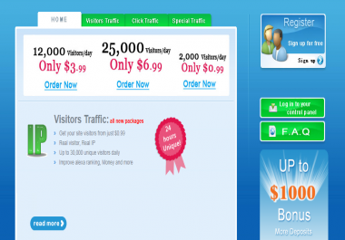 get you real growing targeted traffic visitors to your website