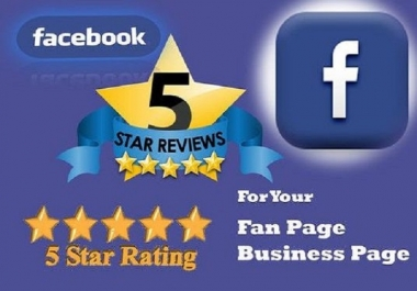 Give you 1 real Facebook 5 star review to your Facebook Fanpage