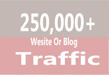 Add you 250,000+ TARGETED Human Traffic to your Website