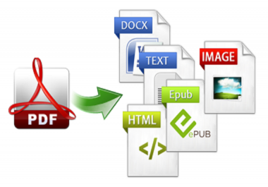 Convert PDF File In To Any Format Within 2hrs