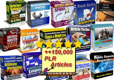 Give ++150,000 Plr Articles On Health Fitness & Many Other Niches