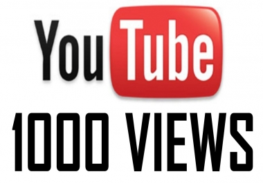 give 1000 super high quality YouTube Views real and permanent fans in 3hrs