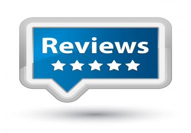 Make 3 reviews to advertise your company or product