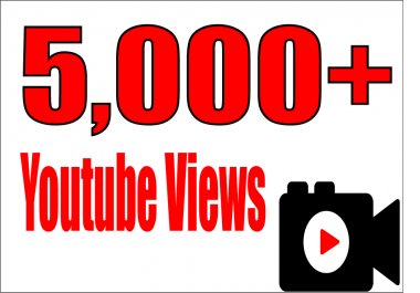 give 5,000 super high quality YouTube Views real and permanent