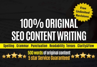 do SEO article writing, content writing, blog writing