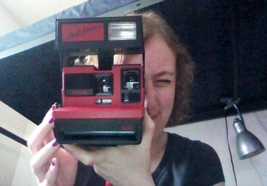 send you a photo taken from my Polaroid camera.