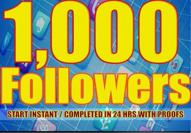 give You 1,000+Fast and SAFE Twitter Followers.