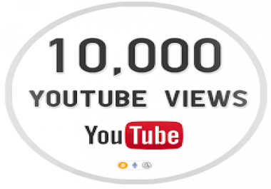 give you real 10,000 super high quality YouTube Views real and permanent