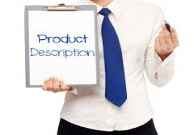 write detailed description for your product listing