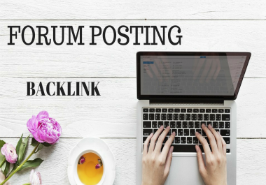 do 500 Forum Posting, with do-follow backlinks