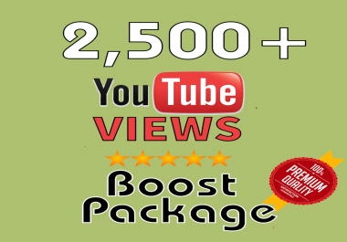give you real 2,500+ super high quality YouTube Views real and permanent