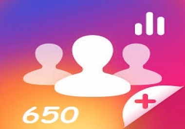 add 650 active and stable Instagram Followers