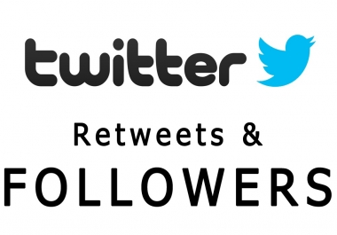 ADD 5000 Twitter Followers Or do 1K RETWEET