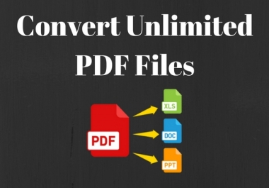 convert unlimited PDF to word document