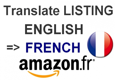 translate your listing into french for amazon france