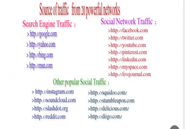 GIVE UNLIMITED HUMAN TRAFFIC BY Google Twitter Youtube and many more to web site for 30 days