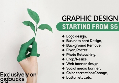 Do All Kind Of Graphic Design Within Few Hours