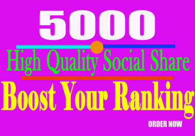 post your URL at top social platform by 5000 share