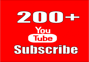 provide you real 200+ YouTube Subscribers on your channel