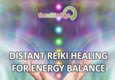 send distant Reiki healing to remove energy blockages