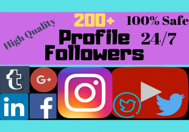 Give You Real Guarantee 100+ YouTube Subscribers or 200+ Instagram Followers/Likes or 200+ Facebook followers/Likes or 200+ Twitter Followers or 200+ Pinterest followers