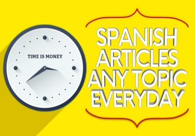 save you time writing your topics SEO Otimized for blogging in spanish