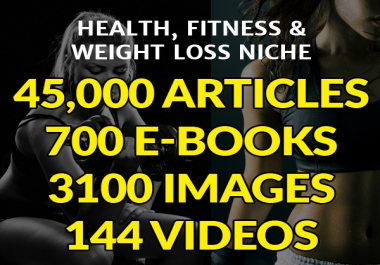 give 45,000 Articles, 700 Ebooks, 3,100 Images with Quotes, 144 HD Videos On Health Fitness