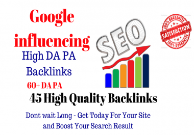 Create Google Influencing 45 Backlinks from High 60+ DA PA Web 2.0 Profile Backlinks