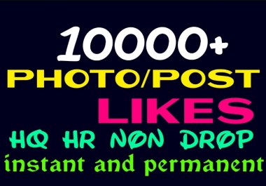 do 10000+ Super Fast, HQ, Non Drop, Social Post, or Photo Promotion