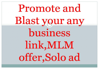 blast MLM offer,business link,solo ads or website