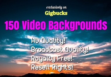 send 150 HD video backgrounds