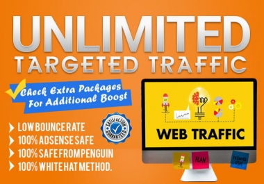 give you 100000 website visitors completely google analytics trackable