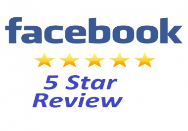 Provide 60 usa facebook Five Star Rating to your fan page
