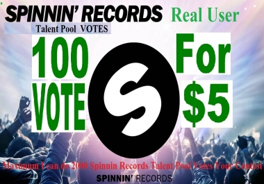 Do 100 spinning Records Talent pool votes for your contest