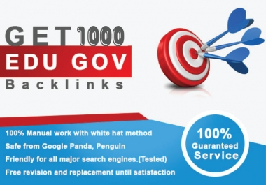 do 1000 HQ dofollow backlinks for top google ranking