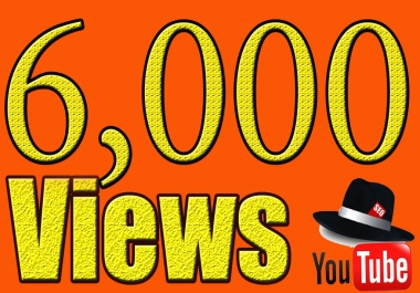 Give You High Quality 6,000+YOUTUBE views